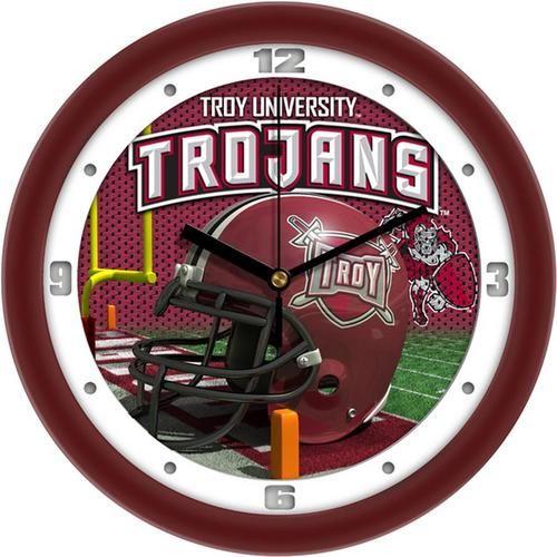 Troy University Trojans Helmet Wall Clock