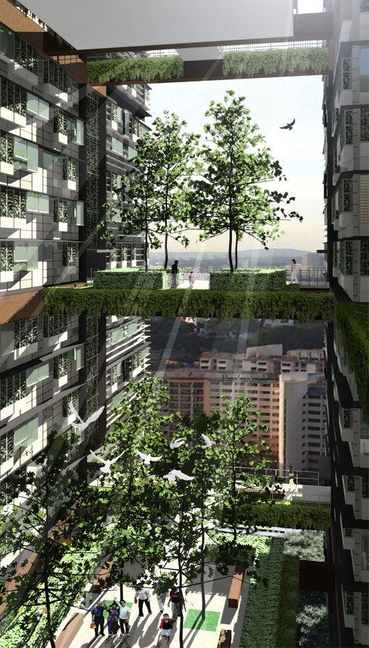 WOHA - Air-conditioning is merely an additional feature in most of their open structures, because the building structure itself provides the cooling. Natural lighting is standard, solar modules harvest energy for use in the building and water for domestic purposes and rainwater are reused.  WOHA architects have realized buildings and landscapes, interiors and exteriors in projects such as the seminal residential high-rise The Met in Bangkok, which received the International Highrise Award…