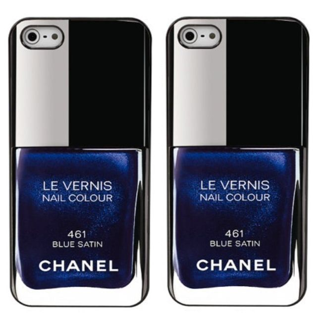 Blue Chanel Nail polish iphone 4 case