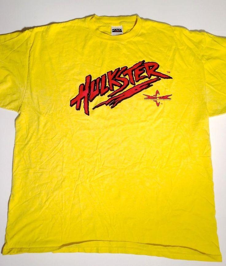 Hulkster Hulk Hogan WCW WWF WWE World Championship Wrestling Tee T-Shirt 2XL #Tultex http://www.ebay.com/itm/Hulkster-Hulk-Hogan-WCW-WWF-WWE-World-Championship-Wrestling-Tee-T-Shirt-2XL-/191347641276