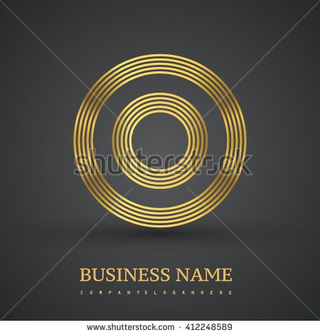 Elegant gold letter symbol. Letter O logo design. Vector logo design template elements  for company identity. - stock vector