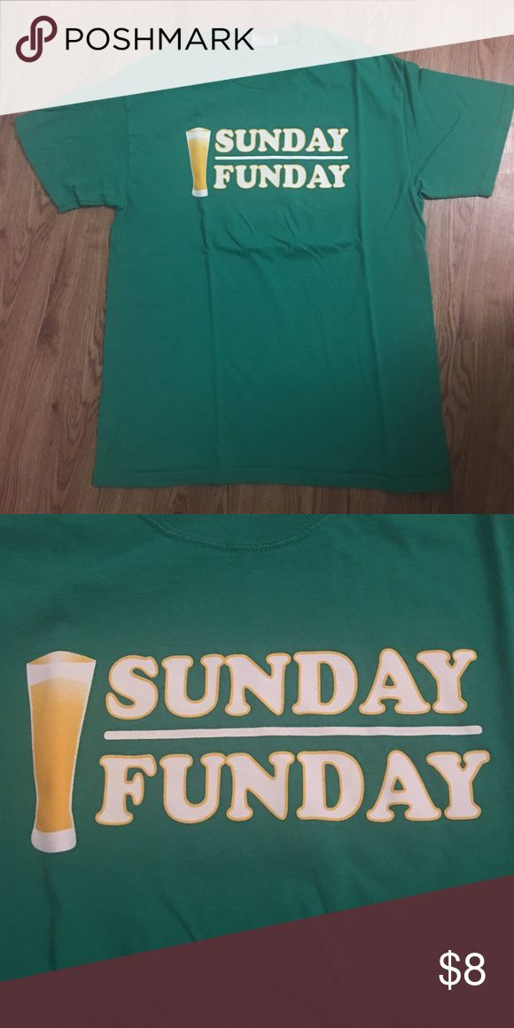 Sunday Funday Shirt Green Sunday Funday Shirt / Size M Tops Tees - Short Sleeve