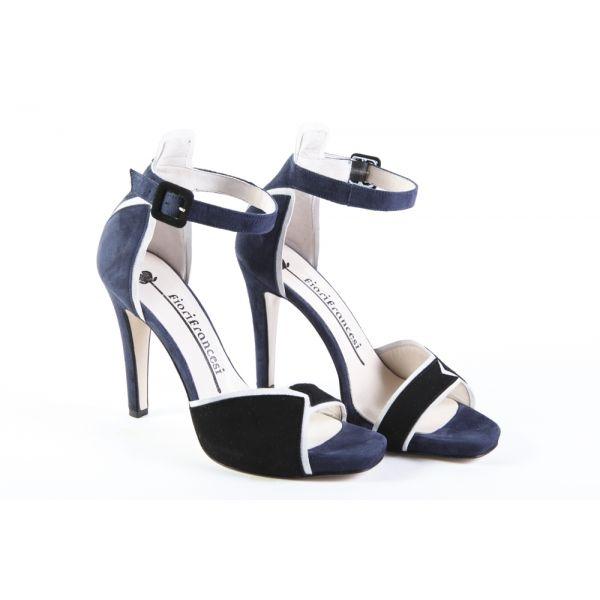 Sandalo in Camoscio, Scarpe donna Fiori Francesi - Moijejoue abbigliamento donna