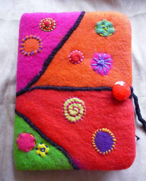 MADE TO ORDER  Handmade felted wool notebook by FeltedArtToWear