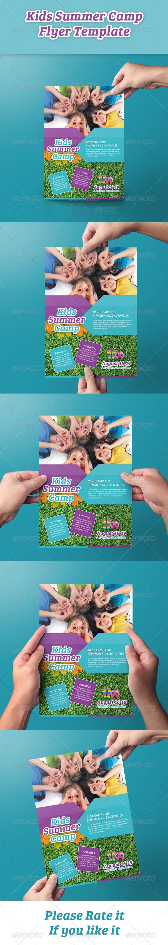 Kids Summer Camp Flyer - Events Flyers