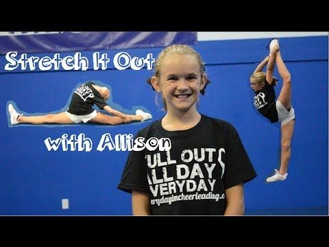Cheerleading Flyer Stretches - Improve your scorpion, heel stretch, and scale - YouTube