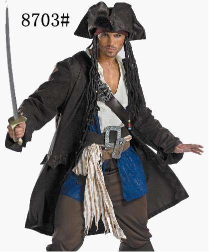 Goedkope mannen cosplay halloween piraat kostuum Pirates of the Caribbean, koop Kwaliteit kleding rechtstreeks van Leveranciers van China: men\ cosplay halloween piraat kostuum Pirates of the Caribbeanzijn: het shirt + jas + vest + riem + scarf + hat + broek
