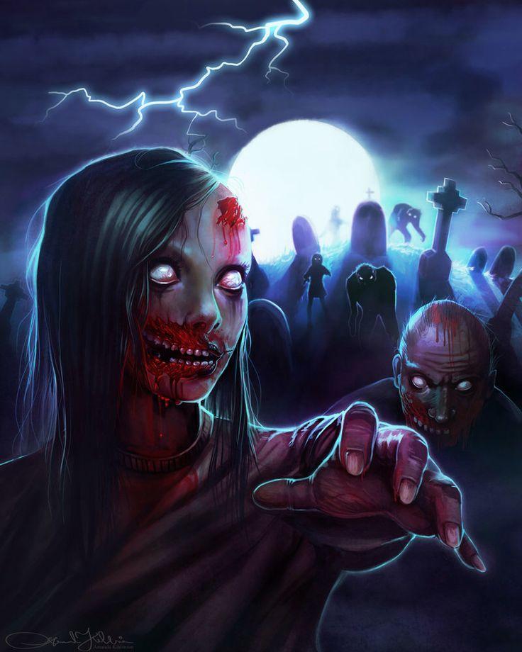 Zombies by Amanda-Kihlstrom on @DeviantArt