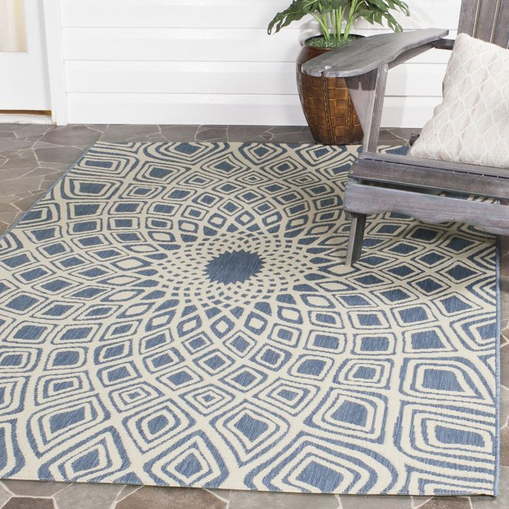 safavieh courtyard collection anthracite and beige indoor outdoor area rug x