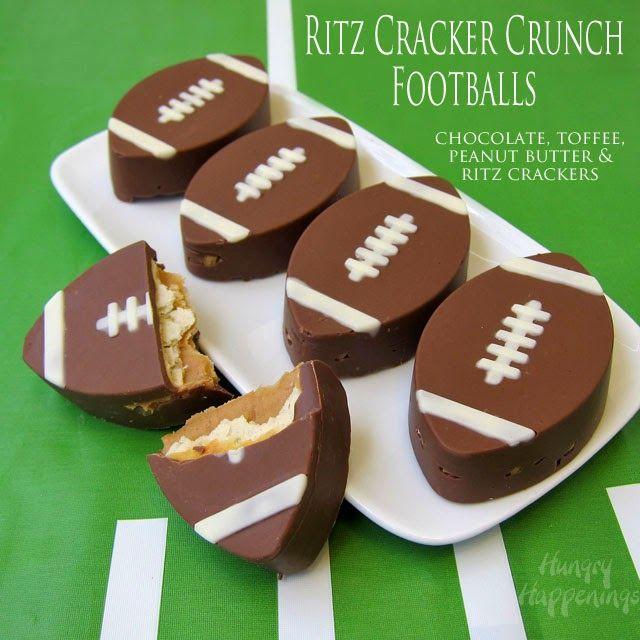 Game Time Ritz Cracker Crunch Footballs & Coca-Cola Truffle Footballs from HungryHappenings.com