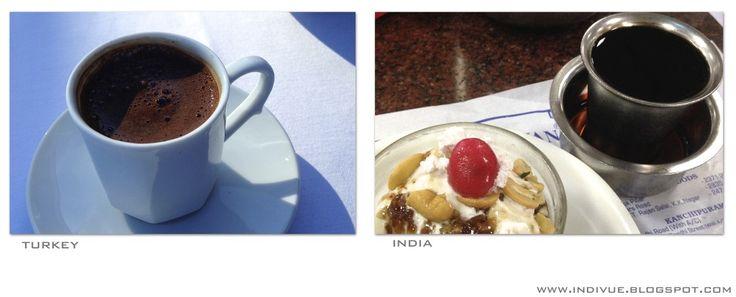 Turkish and Indian coffee - Turkkilainen ja intialainen kahvi