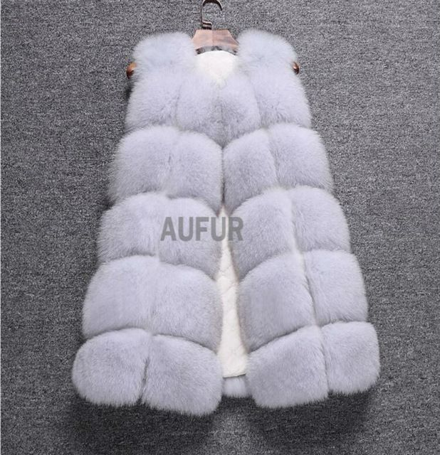 Real Fox Fur Vest Women Gilets Classic Sleeveless Warm Outwear Winter Fox Fur Waistcoat Solid Colour AU00768 US $228.21-228.5 To Buy Or See Another Product Click On This Link  http://goo.gl/yekAoR