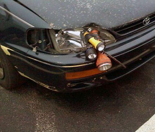 Headlight repair job lazy fail