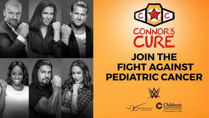 While in Connor Michalek's hometown, Stephanie McMahon announced a new initiative with The V Foundation to support pediatric cancer research.