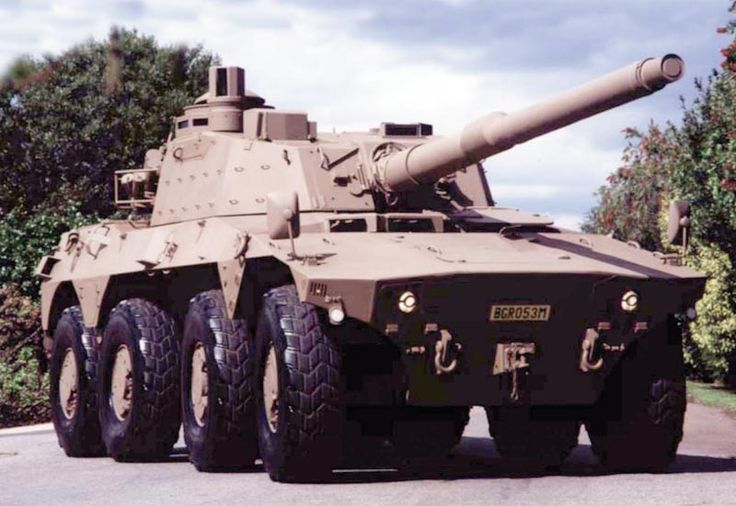 Picture of the Rooikat (Caracal / Red Cat) The South African Army Rooikat 8x8 wheeled Armored Fighting Vehicle came in several notable forms - it has since ended production.