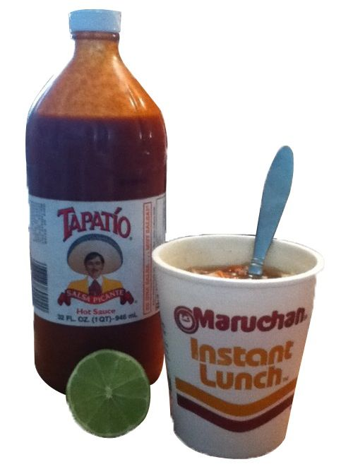 Maruchan Tapatio And Some Lime Food Grain Salad Lunch