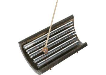 Balinese Gamelan 22cm. This Indonesian 5 note Gamelan is played with two sticks.