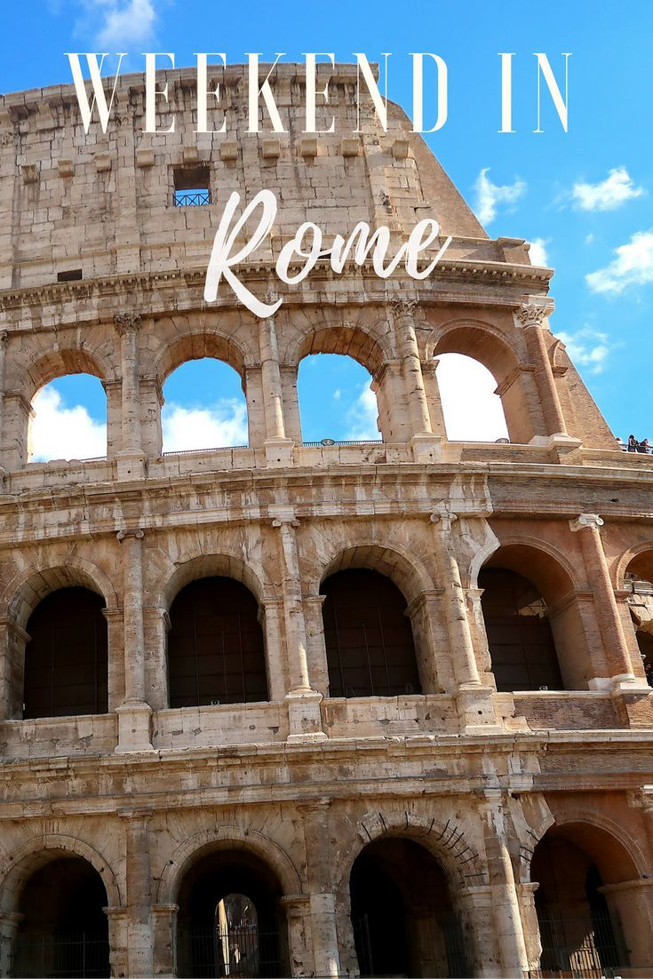 Spend the weekend in Rome exploring the sights. From the Roman Colosseum, to the Trevi Fountain, to the Vatican City - see how we fit it into one weekend.
