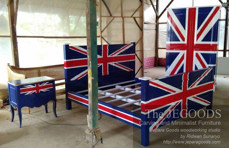 Union jack furniture theme - Mebel dengan Gaya Bendera Inggris
