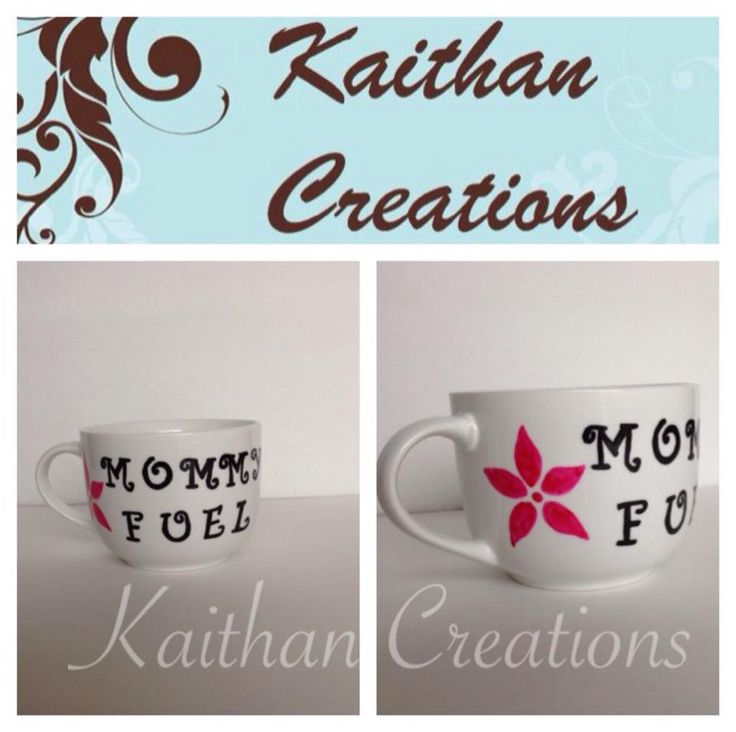 Mommy Fuel Ceramic Mug by Kaithan Creations.  Can be personalized.  Visit my Facebook page for more creations or to place your order.   https://www.facebook.com/kaithancreations/photos/a.218304591702629.1073741829.216663808533374/463236637209422/?type=3