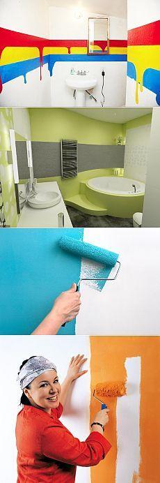 Какую краску выбрать и как красить стены в ванной комнате