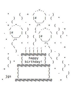 http://thatgrrl.hubpages.com/hub/Birthday-ASCII-Art