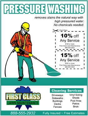 Free Flyer And Door Hanger Templates Pressure Washing Services Pressure Washing