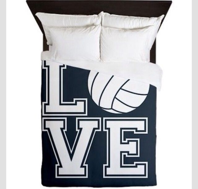 volleyball home items/ volleyball bed sheet