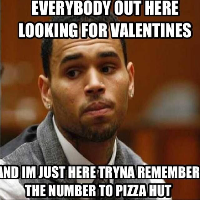 Pretty much.  Chris Brown knows exactly how I feel, on Valentine's Day!