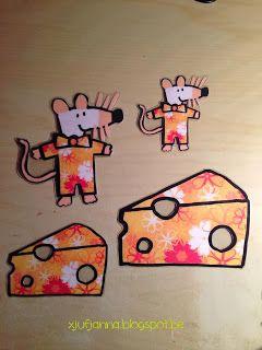 Sorteerspel: Welke muis heeft gaatjes in de kaas gegeten? (sorteren op motiefje / grootte)