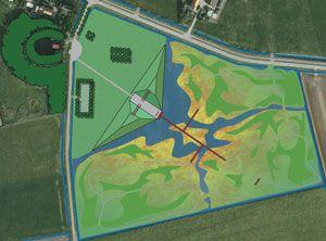 Design by Vollmer & Partners for a natural burial site in the remarkable landscape of Zeeland (the Netherlands). Ontwerp voor een natuurbegraafplaats in Zeeland.