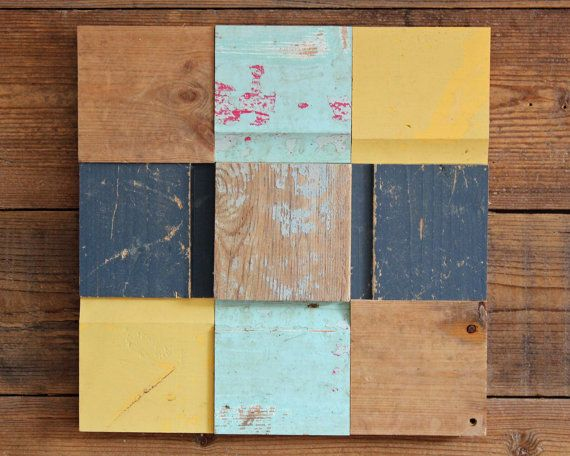Driftwood Wall Art Tile 4 of 4 Wooden Art Work by ReclaimedTime