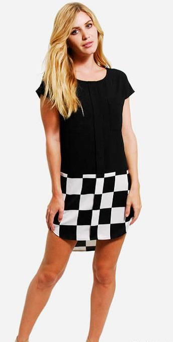 Purple Ginger checkered shirt tail dress. Perfect for summer