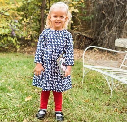 Oliver + S Playtime Dress and Leggings Kit - Sewing Kit includes Fabric & Pattern!