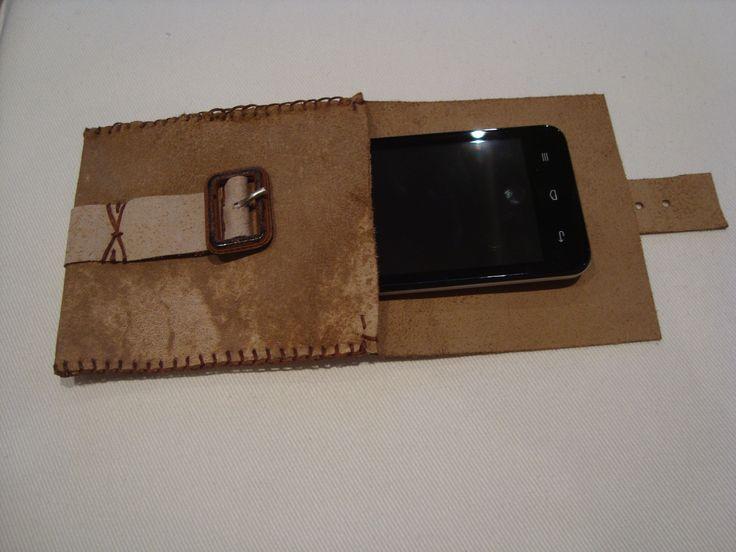 Bolsa em pele. Genuine leather case for phone or other