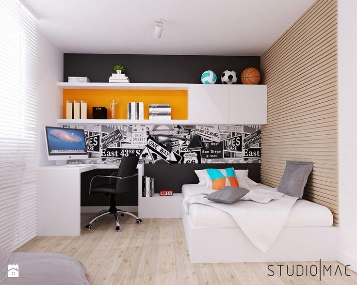 PROJEKT MIESZKANIA 55 m2 - Średni pokój dziecka dla chłopca dla nastolatka, styl nowoczesny - zdjęcie od STUDIO MAC