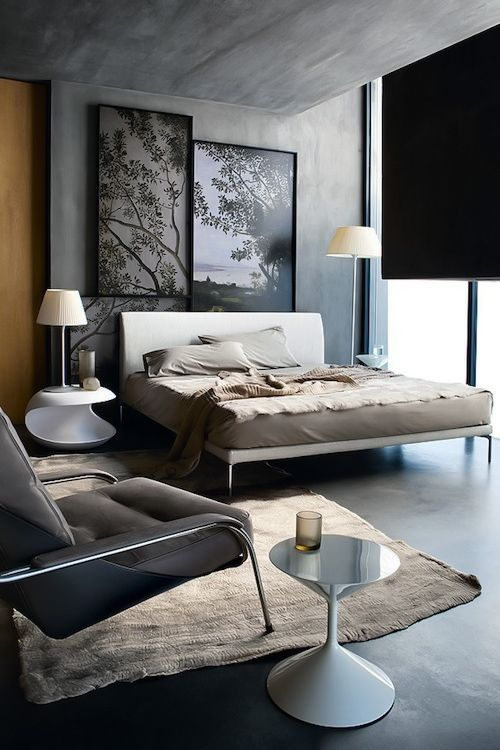 Bedroom interiors architecture pinterest chambres for Deco chambre contemporaine