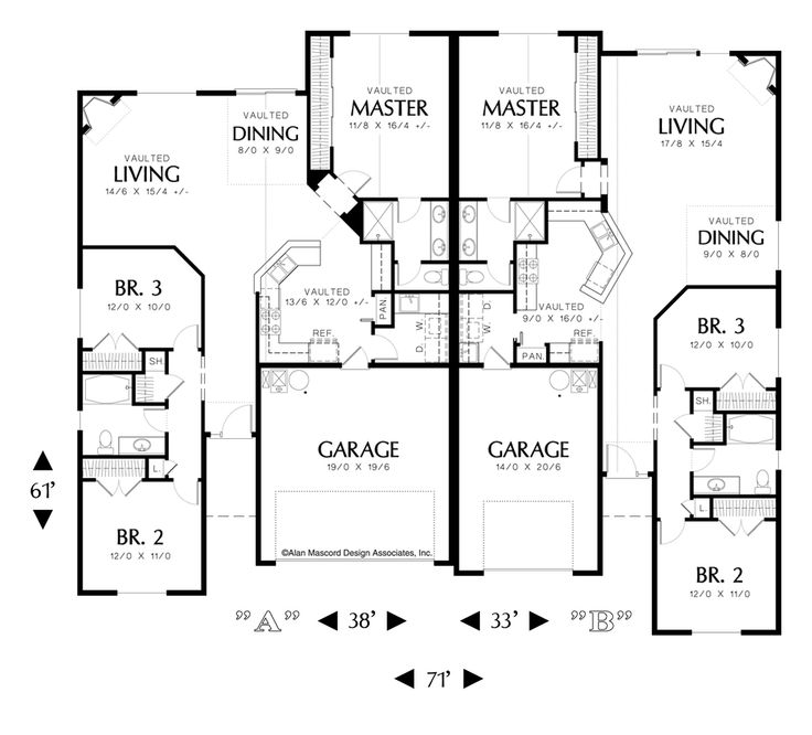 Mascord House Plan 4028 House Plans Fireplaces And