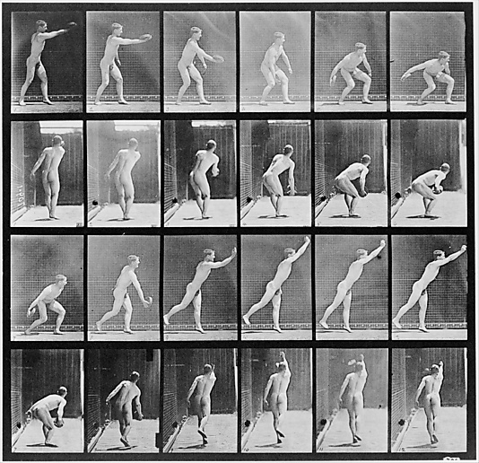 Eadweard Muybridge (American, born Great Britain, 1830–1904). [Man Throwing a Discus], 1883–86, printed 1887. The Photo-Gravure Company. The Metropolitan Museum of Art, New York. Gift of The Philadelphia Commercial Museum, 1938 (38.82.7) #Olympics #London2012