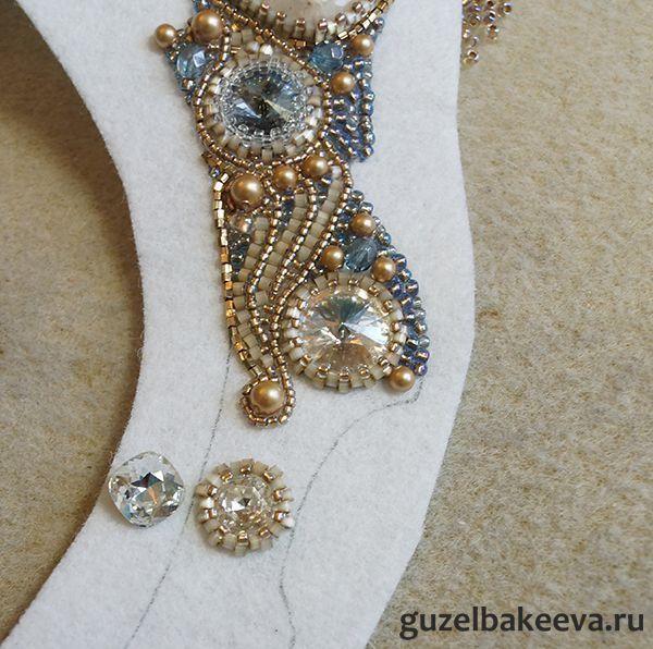 9DIY- Guzel Bakeeva-Blue Shade + мини МК как применить в вышивке мелкие кристаллы swarovski - Шкатулка