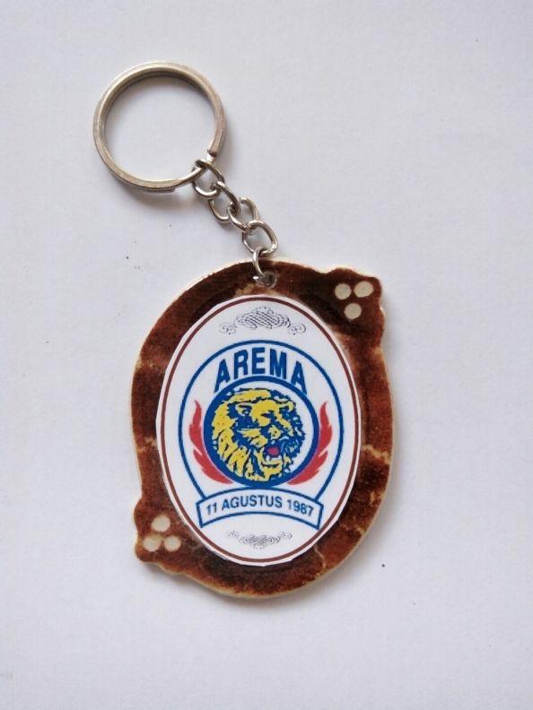 Gantungan Kunci Paralon Bakar Logo Klub Sepakbola AREMA Malang