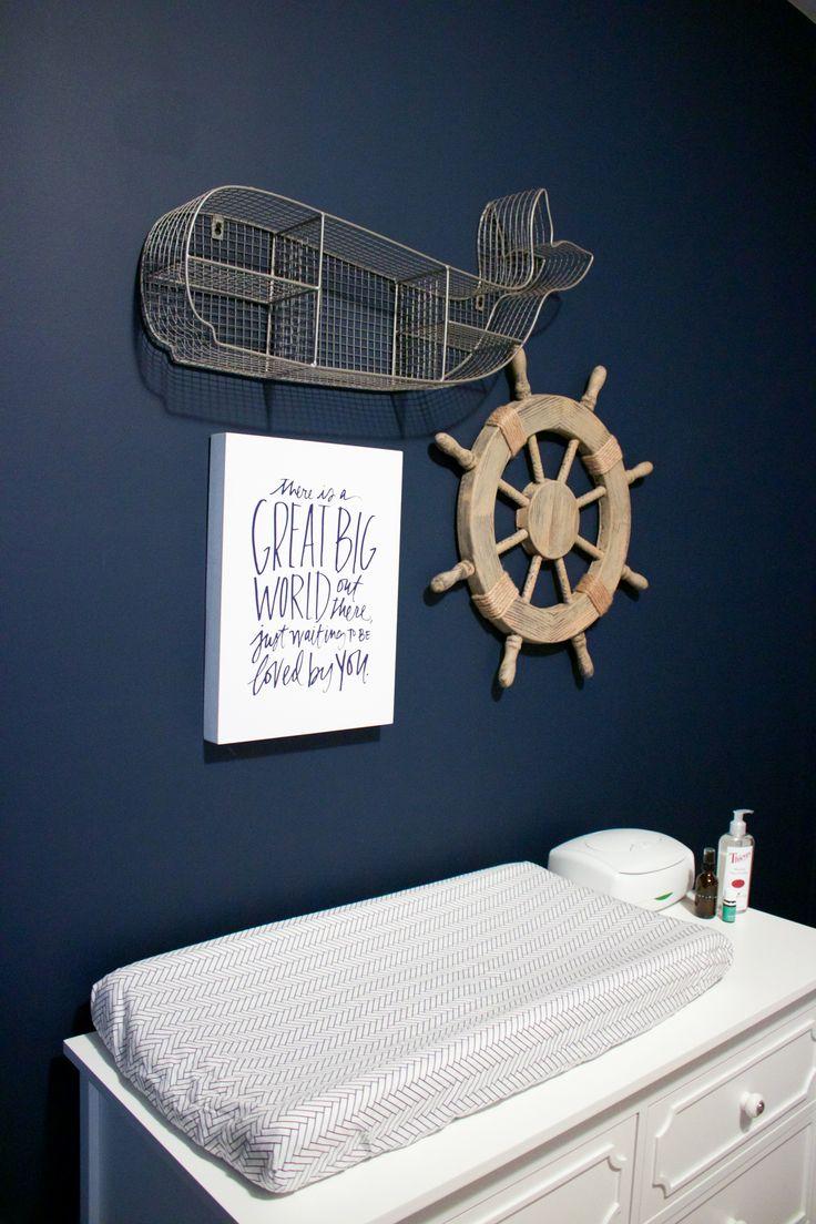 Nautical Baby Boy Nursery Room Ideas: Finn's Nautical Nursery