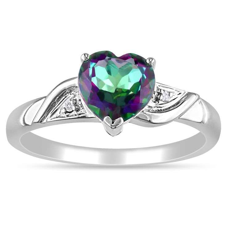@Overstock - Heart-cut exotic green topaz and white diamond ring  10-karat white gold jewelry  Click here for ring sizing guidehttp://www.overstock.com/Jewelry-Watches/Miadora-10k-White-Gold-Heart-Green-Topaz-and-Diamond-Ring/7617817/product.html?CID=214117 $168.99