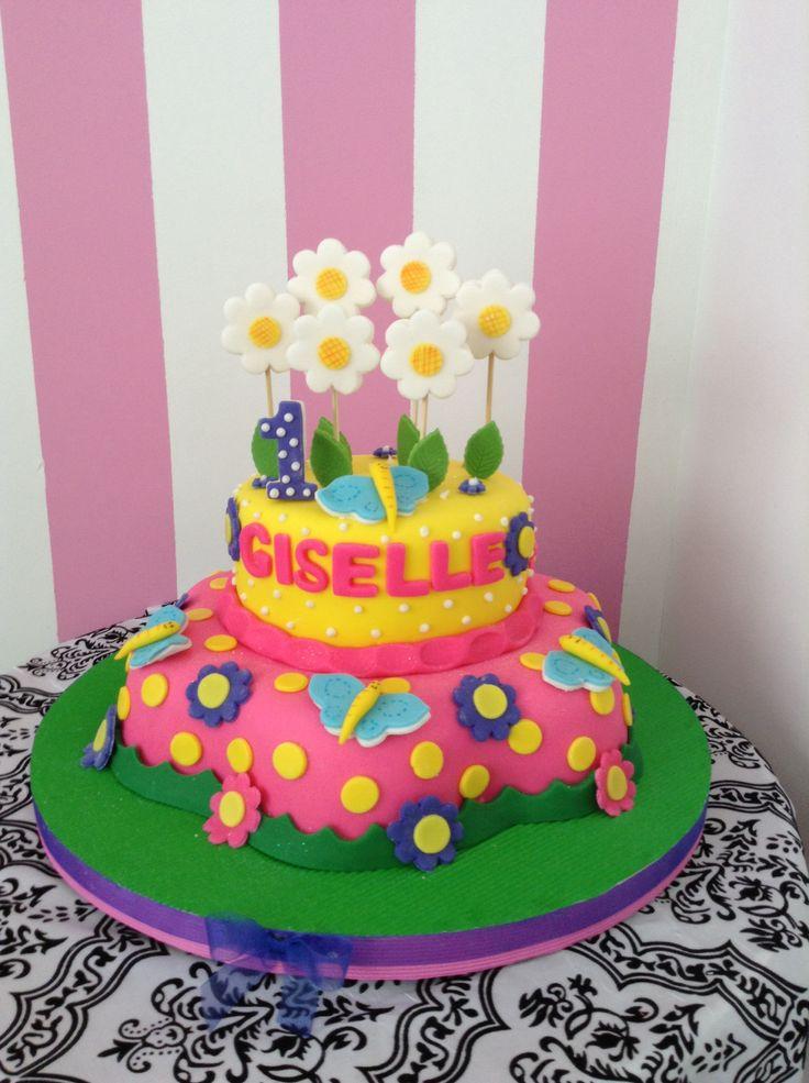 Torta flores y mariposas | tortas | Pinterest