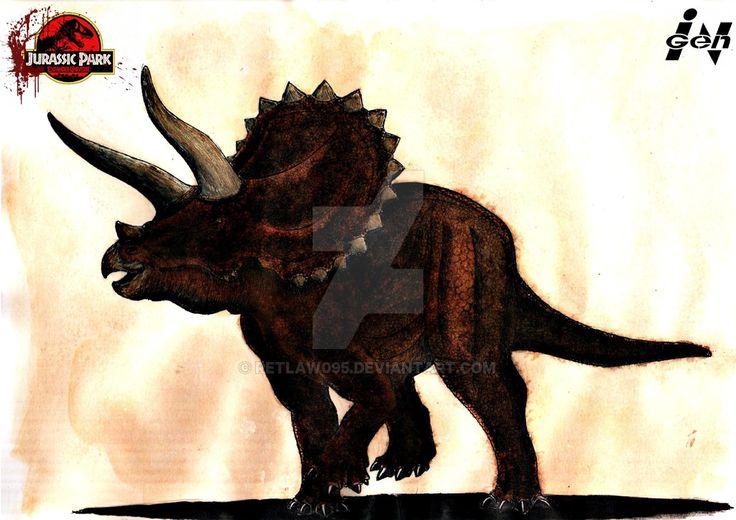 Парк Юрского периода Расширенной Вселенной: Triceratops по Retlaw095