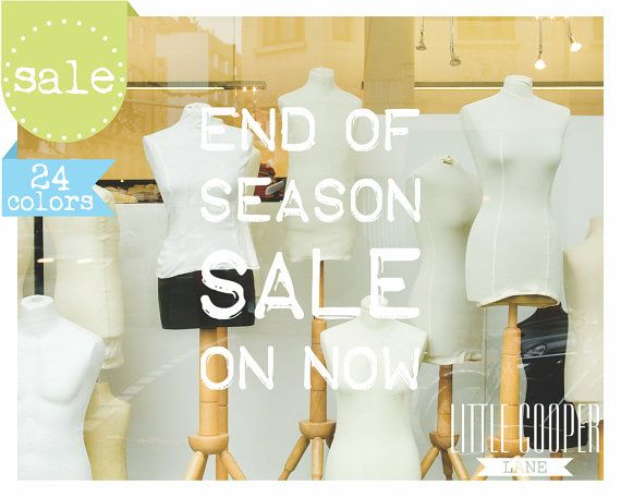 End Of Season SALE On Now Sign Decal Sticker  by LittleCooperLane