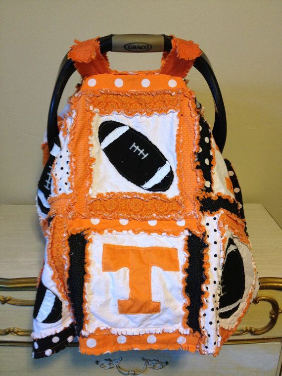 Car Seat Canopy, Sports Blanket,Tennesse Vols Made to Order