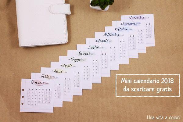 Mini Calendario.Mini Calendario 2018 Pdf Da Scaricare E Stampare Gratis