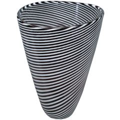 Italian Murano Glass Vase by Cenedese, circa 1950s 2