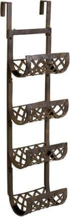 41-Inch Ornate Wall Mounted Wrought Iron Towel & Wine Rack